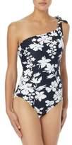 MICHAEL Michael Kors Floral One-Shoulder Swimsuit