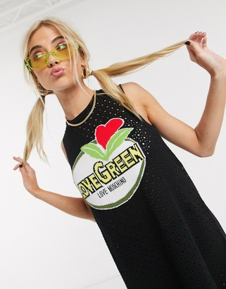 Love Moschino print logo tank dress