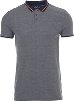 Topman Navy Multi Tipped Collar POLO SHIRT