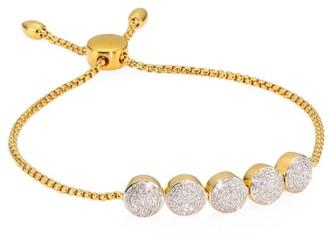 Monica Vinader Fiji Diamond & Sterling Silver Toggle Bracelet