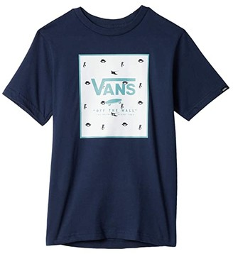 Vans Kids Stay Wavy Tee (Big Kids) (Athletic Heather) Boy's Clothing