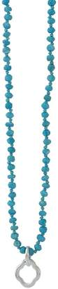 Waxing Poetic Women's Necklaces Turquoise, - Howlite & Sterling Silver Little Clipper Pendant Necklace