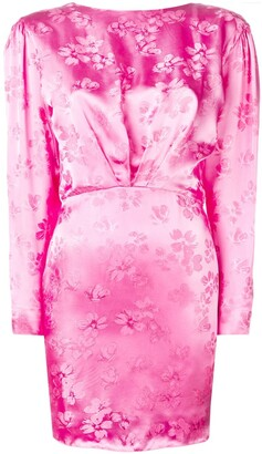 ATTICO open-back floral dress