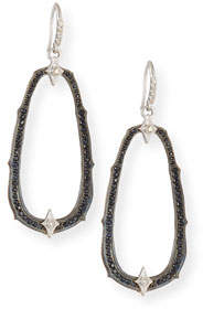 Armenta New World Midnight Crivelli Branch Earrings with Diamond & Black Spinel