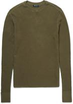 Alexander Wang - T By Alexander Wang Waffle-knit Cotton Sweater