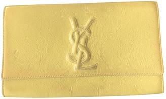 Saint Laurent Belle de Jour Yellow Leather Clutch bags