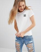 Daisy Street T-Shirt With Pizza Logo