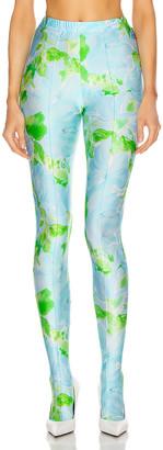 Balenciaga Dynasty Legging in Blue & Green | FWRD