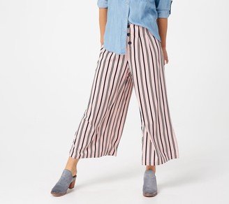Du Jour Regular Button Front Striped Pants
