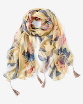 White House Black Market Oversize Floral Scarf