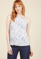 ModCloth Architectural Adventures Sleeveless Top in Floral in L