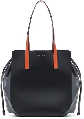 Marni Gusset leather shopper