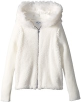 Splendid Littles Faux Fur Sherpa Hoodie Jacket Girl's Coat