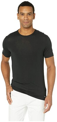 Calvin Klein Underwear Ultra Soft Modal Short Sleeve Crew Neck T-Shirt (Black) Men's T Shirt