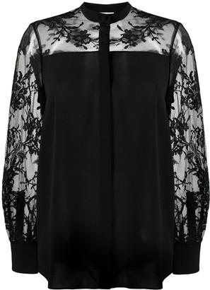 Alexander McQueen Sheer Panelling Silk Shirt