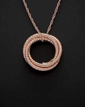 14K Italian Rose Gold Love Knot Pendant Necklace