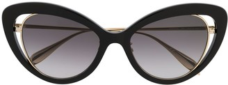 Alexander McQueen Eyewear Cat Eye Frame Sunglasses