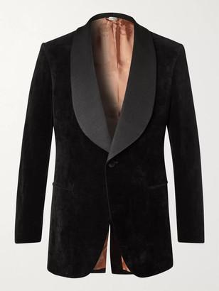 Gucci Faille-Trimmed Cotton And Linen-Blend Velvet Tuxedo Jacket