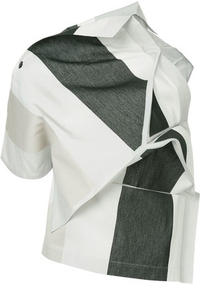 132 5. ISSEY MIYAKE Panelled Asymmetric Top