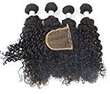"Echo Beauty Brazilian Hair Weave Bundles Unprocessed Deep Curly Hair Extensions 4Pcs 22""24""26""28""and 1Pc Closure 20"""