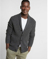 Express shaker knit button front shawl collar cardigan