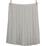 Prada White Silk Skirt