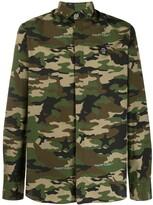 Philipp Plein Camouflage shirt