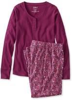 L.L. Bean Ultrasoft Pajama Set, Long-Sleeve Floral