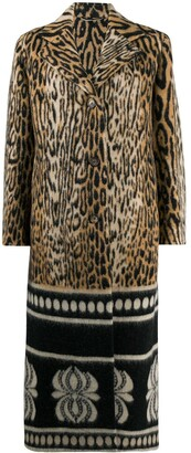 Ermanno Scervino Mixed-Pattern Single-Breasted Coat
