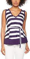 Hot Squash Women's V Striped Neck Tie Vest Tops