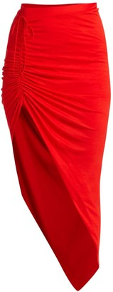 Helmut Lang Ruched Asymmetrical Skirt
