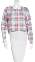 Nicholas Silk Plaid Print Top