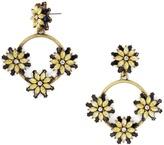 BaubleBar Eila Crystal Floral Hoops