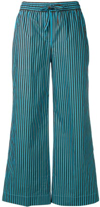 P.A.R.O.S.H. Striped Wide-Leg Trousers