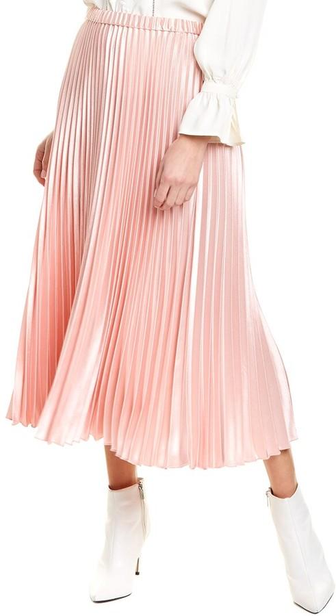 Anne Klein Pleated Maxi Skirt