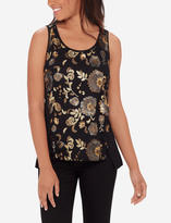The Limited Floral Sequin Tank