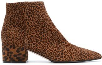 Sergio Rossi Leopard Print Boots