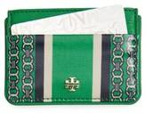 Tory Burch Women's Gemini Link Slim Leather Card Case - Green