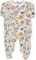 Fendi Cartoon-Print Cotton-Blend Footed Coverall