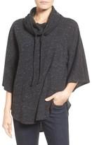 Gibson Petite Women's Funnel Neck Poncho Style Sweatshirt