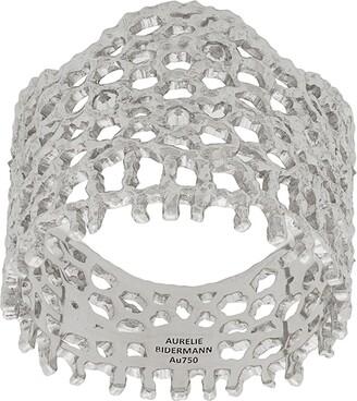 Aurelie Bidermann 18kt white gold Vintage Lace diamond ring