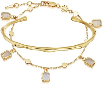 Missoma Gold Molten Rock Bracelet Set