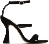 Sophia Webster Black Suede Rosalind Hourglass Sandals
