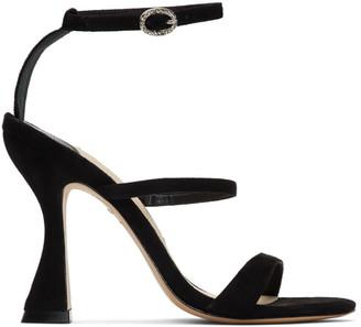 Sophia Webster Black Suede Rosalind Hourglass Sandals