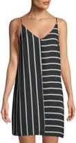 1 STATE 1.STATE Striped V-Neck Shift Dress