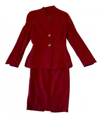 Thierry Mugler Burgundy Wool Jackets