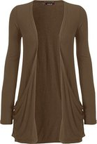 WearAll Women's Long Sleeve Pocket Cardigan - US 12-14 (UK 16-18)
