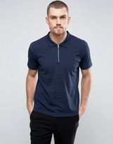 YMC Perforated Zip Polo