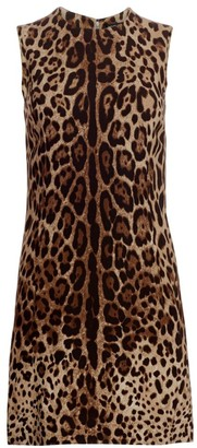 Dolce & Gabbana Sleeveless Stretch Cady A-Line Dress