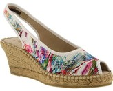 Azura Women's Gweneth Pleated Floral Sandal